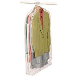 Clear Vinyl Storage Suit Garment Cover: 40″ H X 24″ W X 5″ (2)