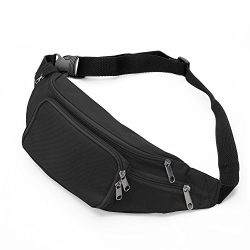SAVFY Bum Waist Bag – [ 4 Zipper Pockets ] Waist Travel Hiking Outdoor Sport Bum Bag Holid ...