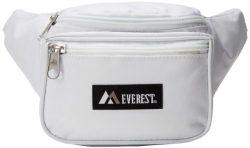 Everest Signature Waist Pack – Standard, White, One Size