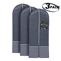 Newdora Breathable 52″ Suit/Dress Garment Bag Cover Hanging Clothes Bag Dress Suit Coat Ba ...
