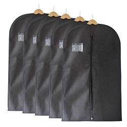 Fu Global Garment Bag Covers for Luggage, Dresses, Linens, Storage or Travel 42″ Suit Bag  ...