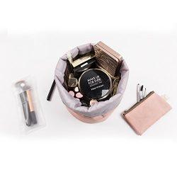 Zoevan Waterproof Cosmetic Bags Makeup Bag Travel Barrel Cases Kit Organizer Bathroom Storage Ca ...