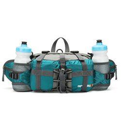 Outdoor Fanny Pack Hiking Camping Biking Waterproof Waist Pack 2 Water Bottle Holder Sports Bag  ...