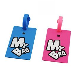 Personalized Luggage Tags Set of 2, Travel Suitcase Identify Label Bag Tags