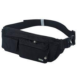 EOTW Fanny Pack Belt Bag Waist Pocket Travel Pouch Sports Cell Phone Holder Outdoor Money Belt W ...