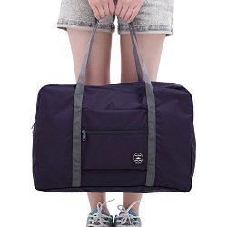 Cocoo Travel Foldable Waterproof Tote Bag Carry Storage Luggage Handbag Navy