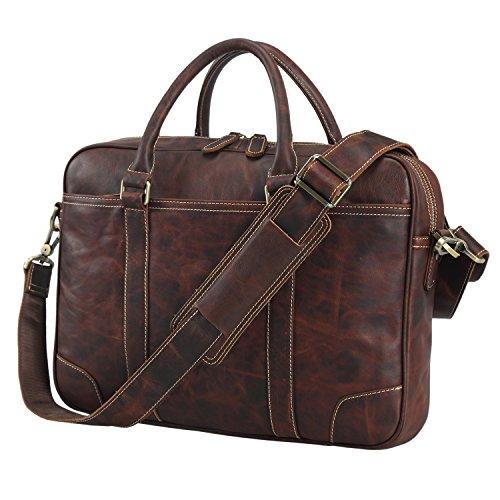 Polare 15 6 Quot Retro Full Grain Leather Laptop Messenger Bag