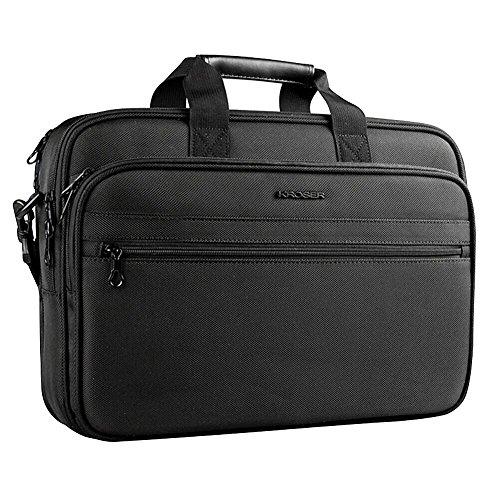 KROSER Laptop Bag Laptop Briefcase Water-Repellent Shoulder Bag Laptop Messenger  Bag Fits Up to 990e4bc534502