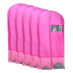 Kernorv Breathable Dust-proof Garment Bag , Set of 5 Environmental Zipper Suit Covers, 51″ ...
