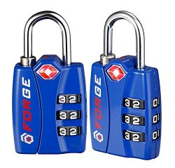 Forge TSA Locks 2 Pack – Open Alert Indicator, Alloy Body and Hardened Steel Shackle with  ...