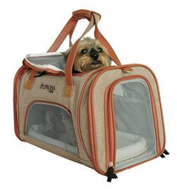 Holiday Price! Luxury Airline Approved Pet Carrier. Dog Carrier & Cat Carrier Fits Under Sea ...