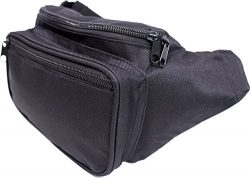 SoJourner Bags Fanny Pack – Classic Solid Bright Colors (Black)