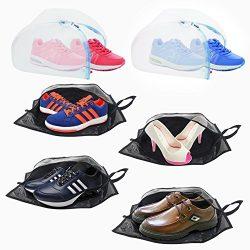 Plusmart Shoe Bag 4-Pack Shoe Storage Bag and 2-Pack Shoe Laundry Bag, Shoe Organizer Bag Travel ...