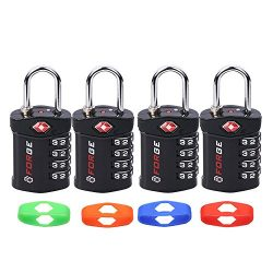 4 Digit TSA Lock, Change Your Own Color and Combination, Inspection Indicator