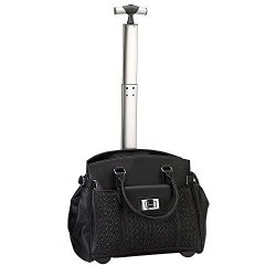 Travelwell The Compact Rolling Laptop Travel Briefcase, 15.4″ L, Black