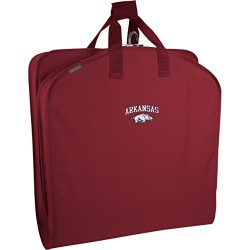 WallyBags Arkansas Razorbacks 40 Inch Suit Length Garment Bag ,Red AR ,One Size