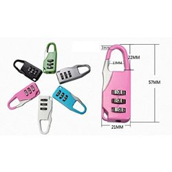 4-Dial Combination Number Padlock(Random Color ) for Travel Holiday Suitcase Luggage Bag Code  ...
