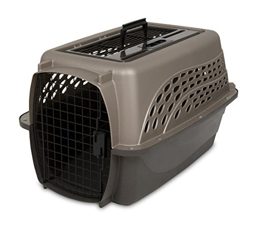 Petmate Two Door Top Load 24-Inch Pet Kennel, Metallic Pearl Tan and Coffee Ground Bottom