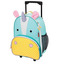 Skip Hop Zoo Kids Rolling Luggage, Eureka Unicorn, Multi, Small/Large/X-Small, 4 oz