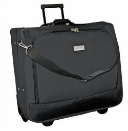 Geoffrey Beene Deluxe Rolling Garment Bag – Travel Garment Carrier With Wheels – Black