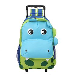 Yodo Upgraded Large Convertible 3-Way Kids Suitcase Rolling Luggage or Toddler Backpack with Whe ...