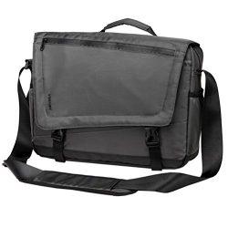 Men Lightweight Water Resistant 15 6 Laptop Messenger Bag Grey Crossbody By Vonxury