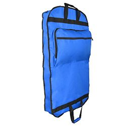 DALIX 39″ Garment Bag Cover for Suits and Dresses Clothing Foldable w Pockets Royal Blue