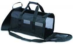 Petmate Soft-Sided Kennel Cab Pet Carrier,Black,Up to 20lbs
