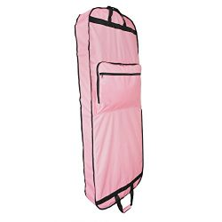 DALIX 60″ Professional Garment Bag Cover Suits Dresses Gowns Foldable Shoe Pocket in Pink