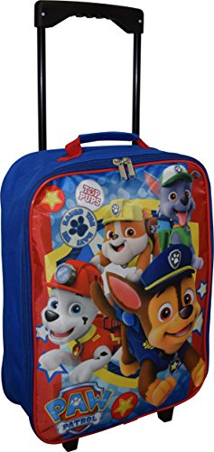 Nickelodeon Paw Patrol Boy's 15″ Collapsible Wheeled Pilot Case – Rolling Luggage
