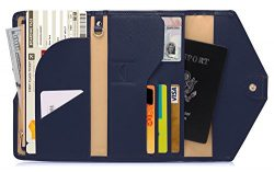 Zoppen Mulit-purpose Rfid Blocking Travel Passport Wallet (Ver.4) Tri-fold Document Organizer Ho ...
