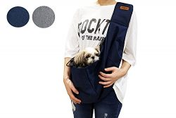 RETRO PUG Pet Sling Carrier Bag-Purse-Front pack-Easy Shoulder Strap Adjustable- Comfortable-Var ...