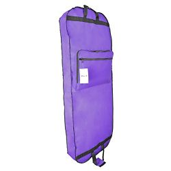 DALIX 60″ Professional Garment Bag Cover Suits Dresses Gowns Foldable Shoe Pocket in Purple