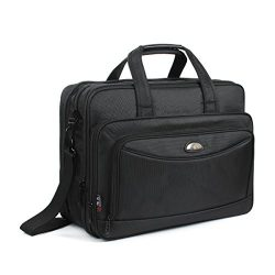17 Inch Laptop Bag, GES Laptop Briefcase Expandable Mens Travel Messenger Shoulder Bag Handbag M ...