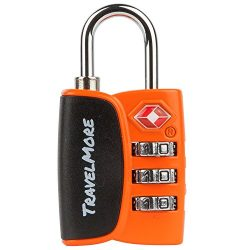 1 Pack Open Alert Indicator TSA Approved 3 Digit Luggage Locks for Travel Suitcase & Baggage ...