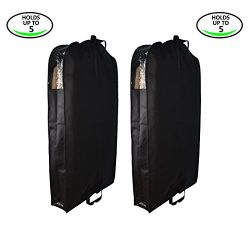 Garment Bag Covers for Clothes Storage Suit Dress Pants Breathable and Foldable with Cedar Pouch ...