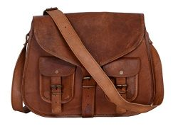 KPL 14 Inch Leather Purse Women Shoulder Bag Crossbody Satchel Ladies Tote Travel Diaper Purse G ...