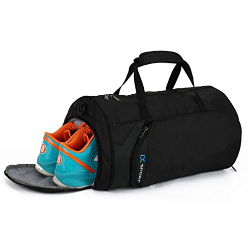 0176843580e8 IX Fitness Sport Gym Bag with Shoes Compartment Waterproof Travel Duffel Bag  for Women and Men