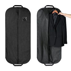 Garment Bag for Suit, Cozzine Dress Bag Set Easy for Storage/Travel, Non-woven With Zipper And C ...