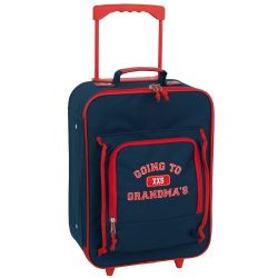 Mercury Going to Grandma's Wheeled Upright Childrens Luggage, Small, Navy Blue