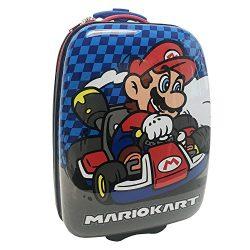 Nintendo Boys' Mario Kart Hard Shell Luggage, Blue