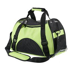 ECBUY Portable Pet Carrier Dog Cat Pet Carrier Airline Approved Under Seat Travel Pet Carrier fo ...