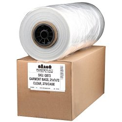 Dry Cleaning Poly Bags, 21x7x72″, 270/Roll