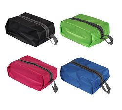 Daygos Portable Waterproof Travel Shoe Bags Pouch with Zipper Closure 4pcs