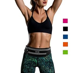 MILIDE Running Belt Waist pack for iphone x 8 7 plus With Reflective Strips Runner Workout   Wat ...