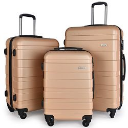 Luggage Set Spinner Hard Shell Suitcase Lightweight Carry On – 3 Piece (20″ 24&#8243 ...