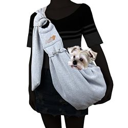 Alfie Pet by Petoga Couture – Chico 2.0 Revisible Pet Sling Carrier with Adjustable Strap  ...