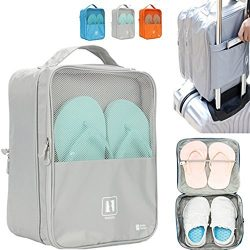 Travel Shoe Bag, MoreTeam 3 in 1 Shoe Storage Bag Holds 3 Pair of Shoes, Seperate Your Shoes Fro ...