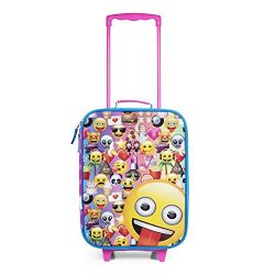 Emoji Pink Rainbow Faces Pilot Case Luggage
