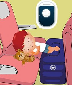 Airplane Travel Bed for Kids, Height-Adjustable Travel Pillow Leg Rest. Travel Accessories as Ki ...
